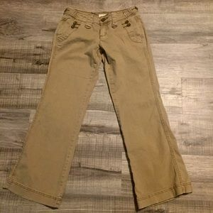 Maurices tan Bootcut Jeans. Size 3/4 short